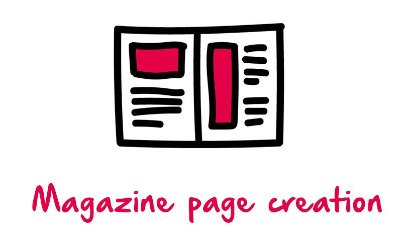 Magazine page creation