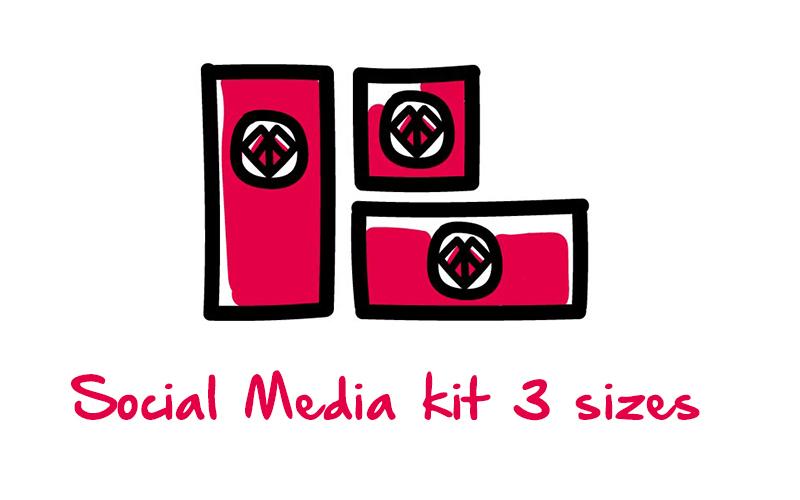Social Media kit 3 sizes
